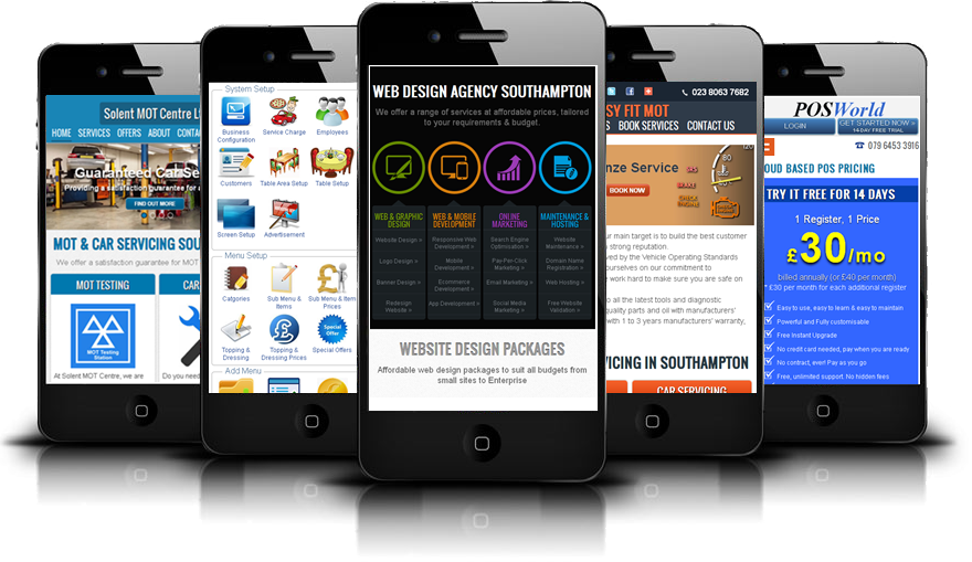 Mobile Website and app development Southampton