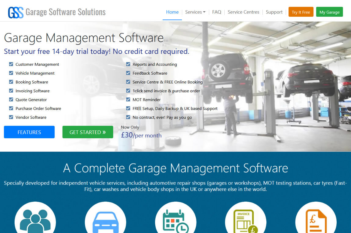 Garage Software Solutions  -  Custom Web design & Development