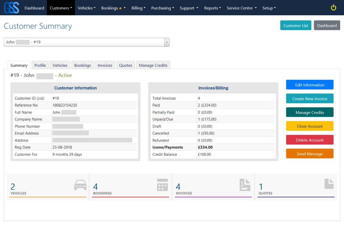 Garage Software Solutions  -