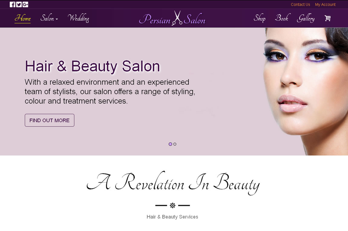 Hair & Beauty Salon -  Custom Web design & Development